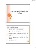 Bài giảng về Kinh tế lượng: Chương 1
