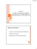 Bài giảng về Kinh tế lượng: Chương 7