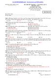 Đề thi thử ĐH-CĐ lần 1 môn Hóa (2013-2014) – THPT Ninh Giang – Mã đề 647 (Kèm Đ.án)