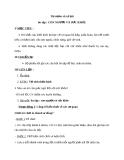 Giáo án TNXH 1 bài 10: Ôn tập con người và sức khỏe