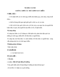 Bài 26: Không chơi các trò chơi nguy hiểm - Giáo án TNXH 3 - GV:Đ.T.Lý
