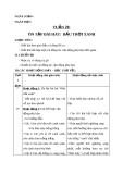 Bài 20: Ôn tập: Bầu trời xanh - Giáo án Âm nhạc 1 - GV:Hồng Thủy
