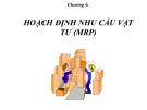 Bài giảng Quản trị sản xuất - Chương 6: Hoạch định nhu cầu vật tư