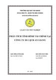 Luận văn tốt nghiệp: Phân tích tình hình tài chính tại công ty du lịch An Giang