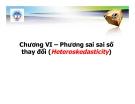 Bài giảng Kinh tế lượng: Chương 6 - Th.s Nguyễn Hải Dương