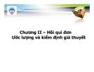Bài giảng Kinh tế lượng: Chương 2 - Th.s Nguyễn Hải Dương