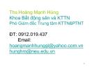 Bài giảng Kinh tế nông nghiệp: Chương 1 - ThS. Hoàng Mạnh Hùng
