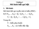 Bài giảng môn Kinh tế lượng: Chương 4