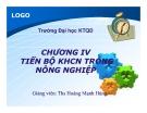 Bài giảng Kinh tế nông nghiệp: Chương 4 - ThS. Hoàng Mạnh Hùng