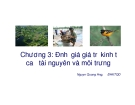 Bài giảng Kinh tế và quản lý môi trường: Chương 3 - Nguyễn Quang Hồng