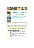 Bài giảng Kinh tế và Quản lý môi trường: Chương mở đầu - PGS.TS Lê Thu Hoa