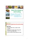 Bài giảng Kinh tế và Quản lý môi trường: Chương 1 - PGS.TS Lê Thu Hoa