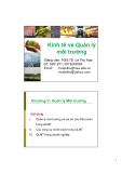 Bài giảng Kinh tế và Quản lý môi trường: Chương 5 - PGS.TS Lê Thu Hoa
