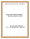 Sáng kiến kinh nghiệm: Hoạt động vui chơi - Trường mầm non xã Nghĩa Thái
