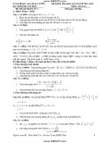 10 Đề kiểm tra học kì 2 Toán 12 (2011-2012) - TTGS Đỉnh Cao Chất Lượng