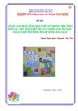 SKKN: Nâng cao khả năng học các chữ số trong việc tích hợp các trò chơi ghép số có ý nghĩa cho trẻ mẫu giáo nhỡ tại trường Mầm non Hoa Mai