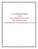 SKKN: Một số biện pháp XD môi trường văn hóa tại trường mầm non Yên Hòa quận Cầu Giấy