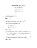 Tổng hợp đề thi học kì 1 môn Toán lớp 11 năm 2010-2011