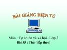 Bài 55: Thú (TT) - Bài giảng điện tử Tự nhiên xã hội 3 - T.B.Minh