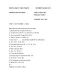 Đề thi giữa HK II Môn Toán Lớp 4 - Phòng GD và Đào Tạo Châu Thành
