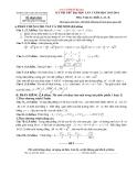 Kỳ thi thử ĐH lần 1 Toán 12 khối A, A1, B (2013-2014) - THPT chuyên Vĩnh Phúc  (Kèm Đ.án)