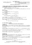 Đề thi thử ĐH lần 1 Toán khối  A, A1, B, D (2013-2014) - THPT Quế Võ 1 (Kèm Đ.án)