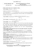 Đề thi thử ĐH lần 1 Toán khối A 2014 - THPT Đức Thọ (Kèm Đ.án)