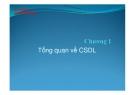 Bài giảng Cơ sở dữ liệu: Chương 1 - Tổng quan về cơ sở dữ liệu