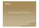 Bài giảng Cơ sở dữ liệu: Chương III - Query