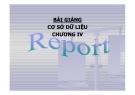 Bài giảng Cơ sở dữ liệu: Chương IV - Report