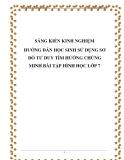 SKKN: Hướng dẫn học sinh sử dụng sơ đồ tư duy tìm hướng chứng minh bài tập Hình học 7