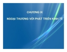 Bài giảng Kinh tế phát triển: Chương 9 - Ths. Bùi Thị Thanh Huyền
