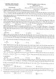 Đề thi thử Đại học Vật lý lần 2 năm 2014 - THPT Chuyên Nguyễn Huệ Hà Đông - Mã đề 485