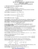 Đề thi thử Đại học Toán lần 2 (2013-2014) khối D (Kèm đáp án)