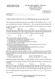 Đề thi thử Đại học môn Vật lý lần 3 năm 2014 - ĐHSP Hà Nội - Mã đề 133