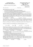 Đề thi thử Đại học môn Vật lý lần 1 (2013-2014) - THPT Hàm Nghi - Mã đề 379 (Kèm đáp án)
