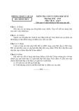 Đề thi kiểm tra học kì II môn Vật lý năm học 2012 -2013 - Phòng GD - ĐT Cam Lộ