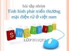 Bài thuyết trình Tình hình phát triển thương mại điện tử ở Việt Nam