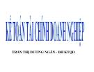 Bài giảng Kế toán tài chính: Chương 1 - Trần Thị Dương Ngân