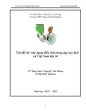 """SKKN: """"Vận dụng điển tích trong dạy học lịch sử Việt Nam lớp 10"""" - GVTH Nguyễn Văn Hùng"""