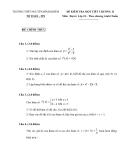 Đề kiểm tra 1 tiết Toán 10 - THPT Nguyễn Bỉnh Khiêm (Kèm đáp án)