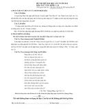 Đề thi thử ĐH lần 1 Ngữ văn khối C, D năm 2014