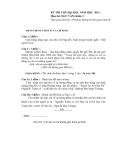 Kỳ thi thử ĐH Ngữ văn khối C năm 2014 - Kèm Đ.án