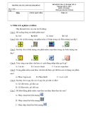 Đề kiểm tra cuối học kỳ 2 môn Tin học -  Trường Tiểu học số 2 Sơn Đông