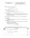 Đề thi học kỳ 1 môn Toán lớp 11 - THPT Ngô Gia Tự