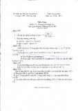 Đề kiểm tra học kỳ môn Toán 11 (Kèm đáp án)