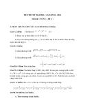 Đề thi thử Đại học, Cao đẳng Toán 2012 đề 1 (Kèm đáp án)