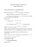 Đề thi thử Đại học, Cao đẳng Toán 2012 đề 13 (Kèm đáp án)