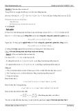 Luyện thi Đại học 2013 - Tính đơn điệu của hàm số