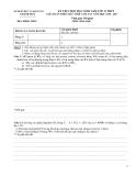 Đề thi HSG giải Toán trên máy tính cầm tay Hóa 12 - Sở GD&ĐT Thanh Hóa -  (Kèm Đ.án)